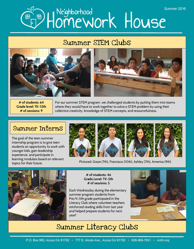 We were scientists this summer!