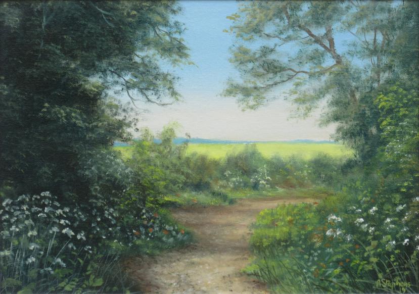 Path to rape field