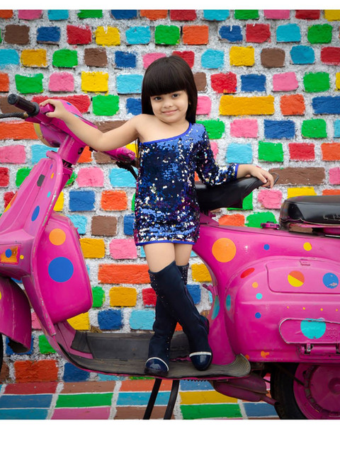 Colourful Wall with Scooter