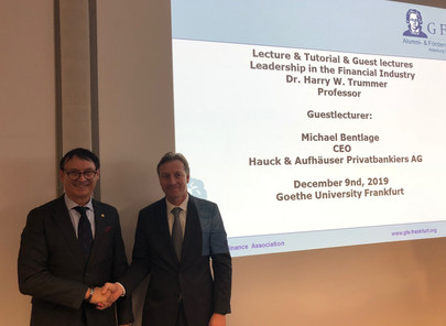 Executive Suite Leadership Dr. Trummer: Top Executive Guest Speech with Hauck&Aufhäuser, Dec 9, 2019