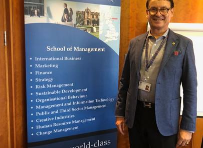 Dr. Trummer  visits University of St Andrews, School of Management, 21st Nov. 2019