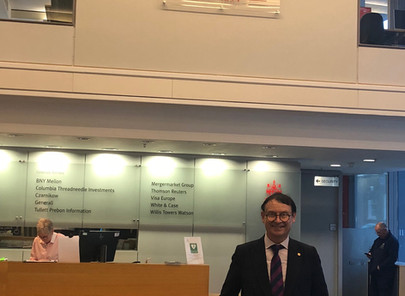 Dr. Trummer visits CASS Business School on Campus in London, January 2020