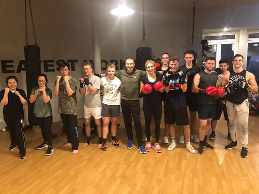 """26. GFA Boxing Workout """"Get in shape for your leadership career – Never Give Up"""", Oct. 29, 2019"""