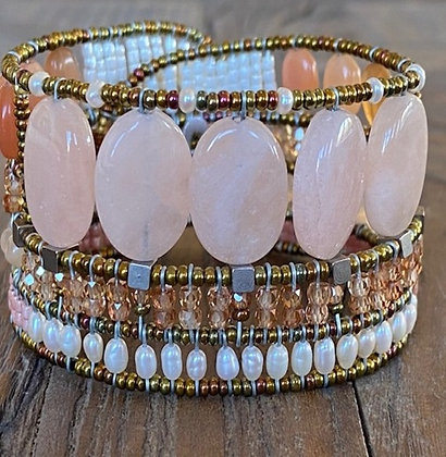 Bracelet Manchette Goiaba Morganite