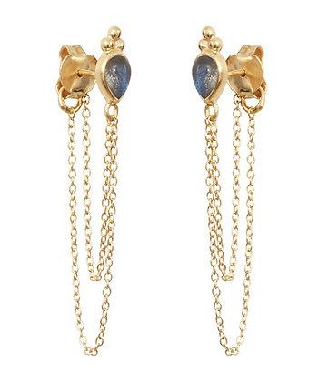 Boucles d'oreilles Marla Labradorite