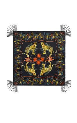 Foulard Wild Pompon Black