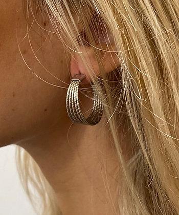 Boucles d'oreilles Multi Créoles
