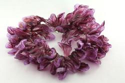 Purple magnolia necklace