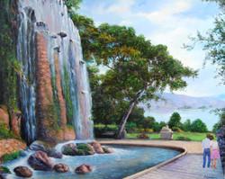 Italian Fountain Landscape - $800