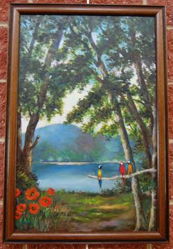 Landscape with Parrots - $600