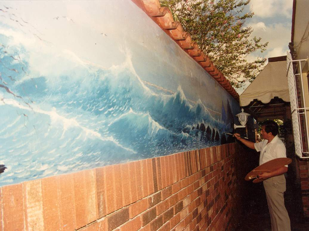 House Mural Seascape - Miami Fla