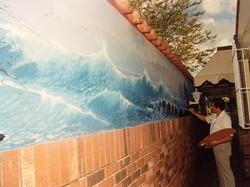 House Mural Seascape - Miami Fla