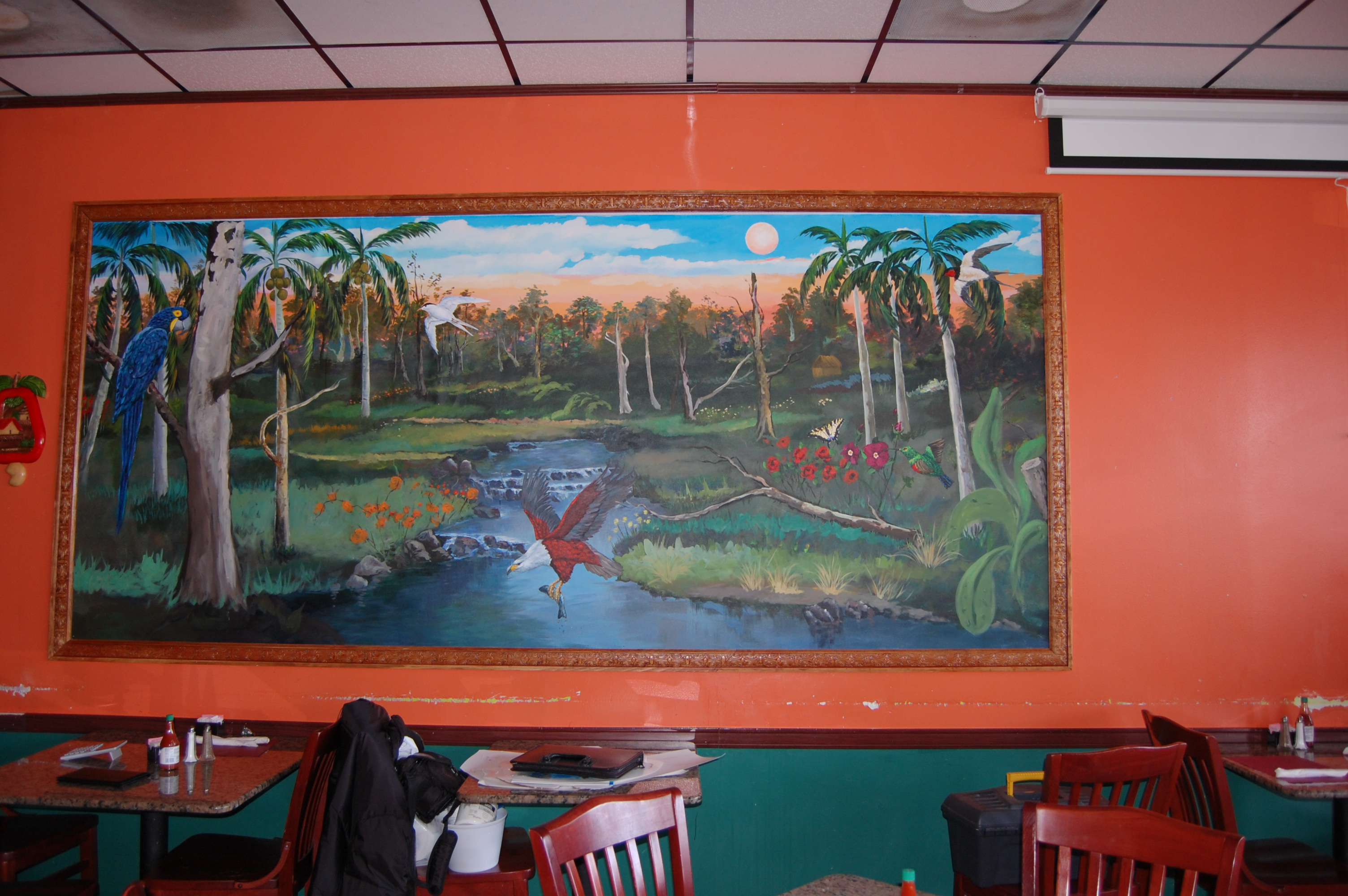 Restaurant Indoor Mural