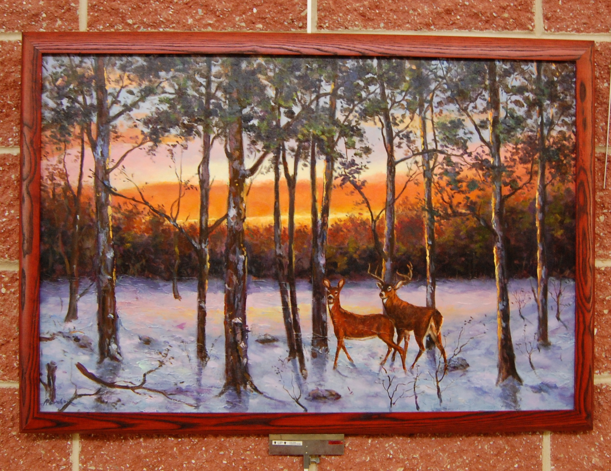 Sunset with Deer - SOLD