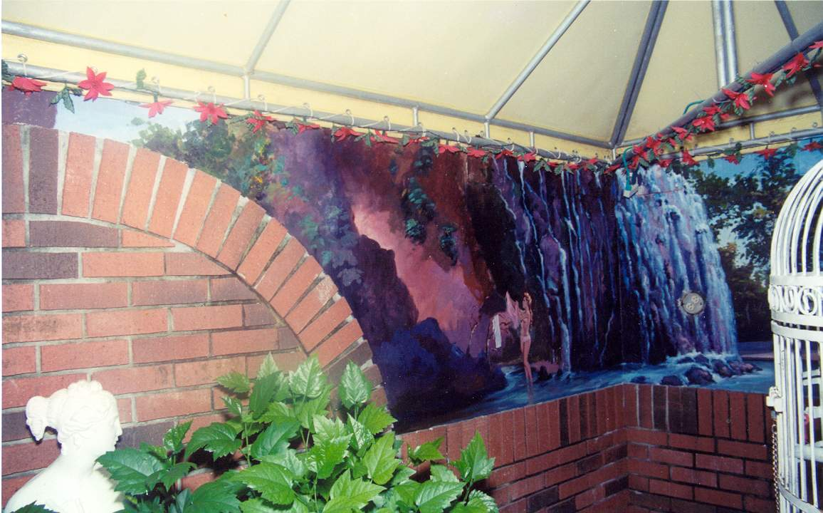 House Mural Waterfall - Miami Fla