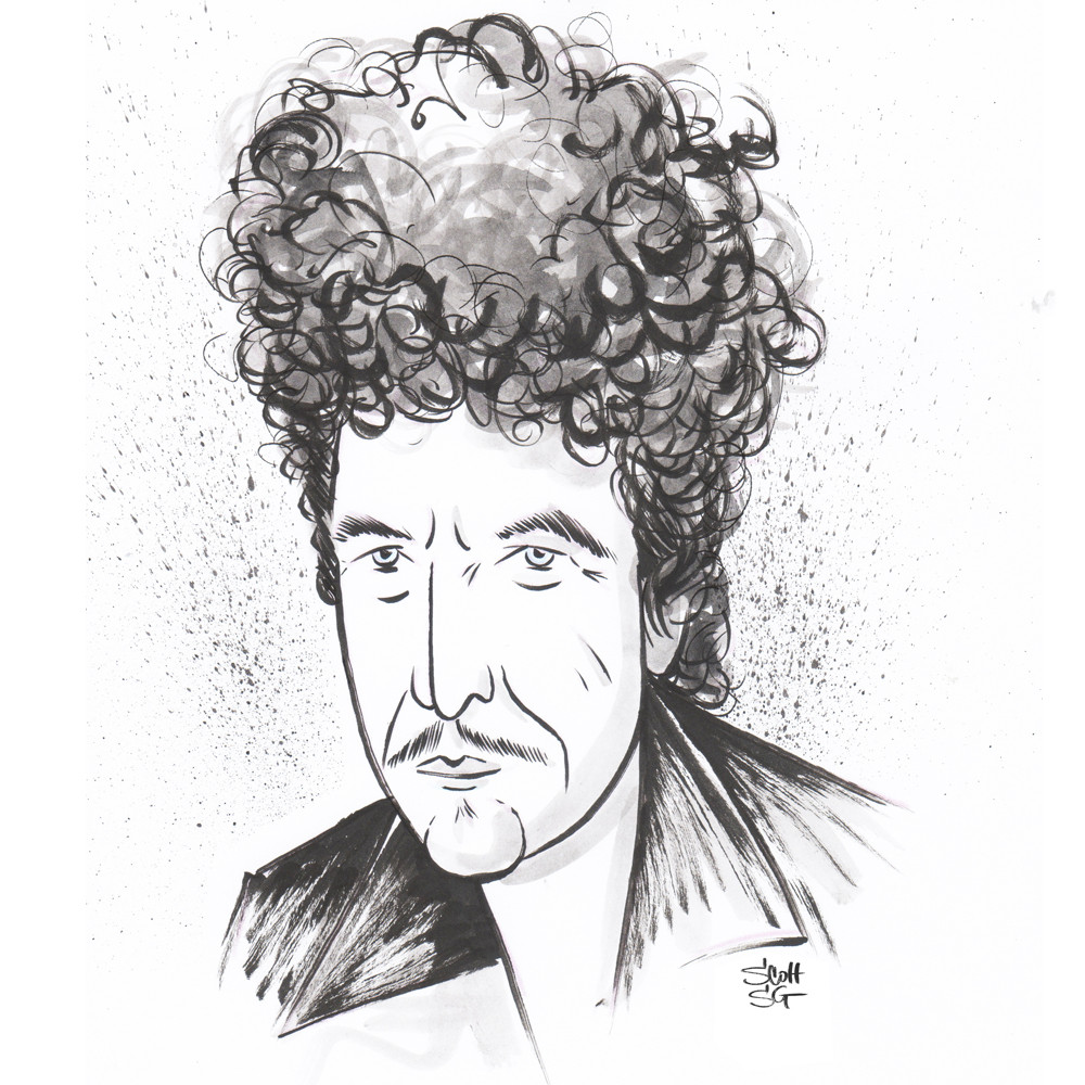 Bob Dylan-winner of the Nobel Prize in Literature.
