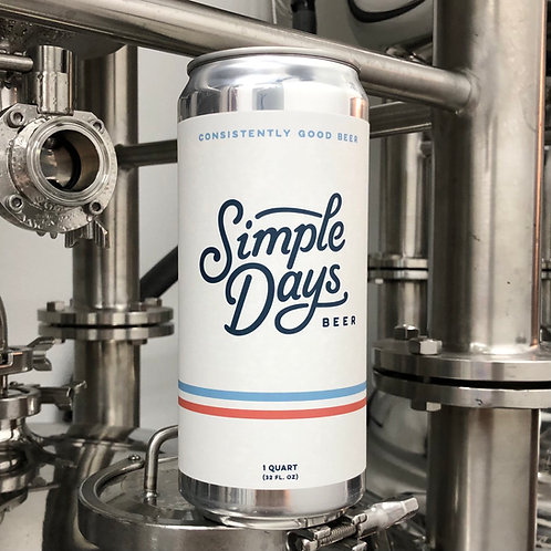 Simple Days Golden Ale -32 oz Crowler