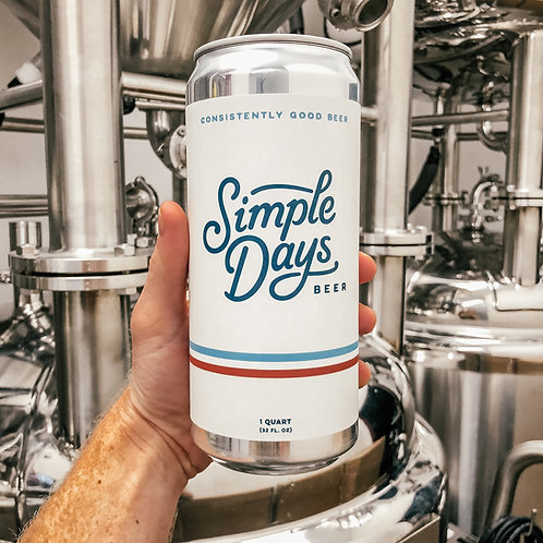 Simple Days Golden Ale -32 oz Crowler