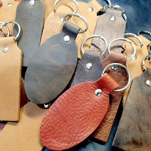 Leather Keyring Blanks