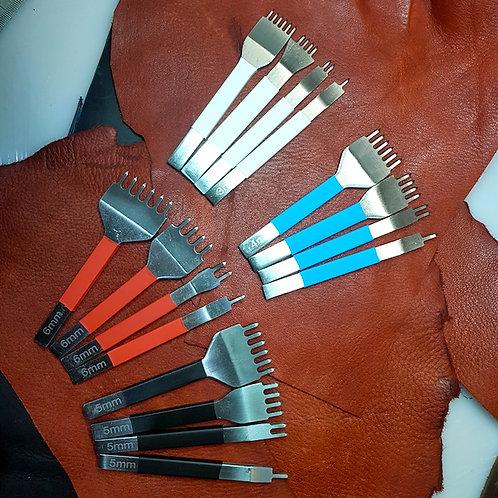Diamond Stitching Prong Set Flat Steel