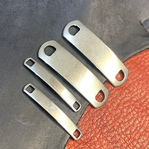 S Steel Rectangular Tags