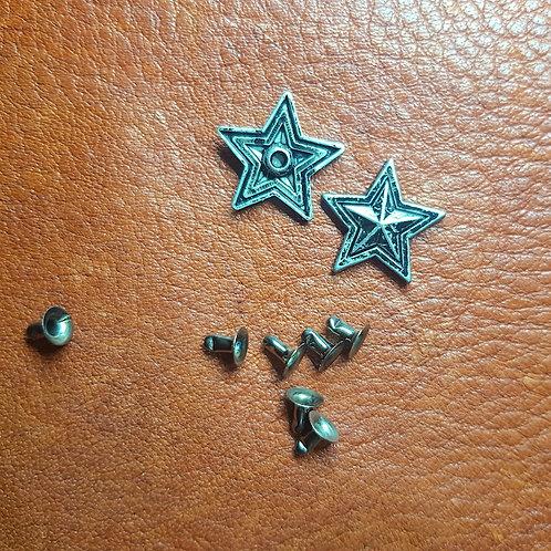 ST010 Blackish Star Concho