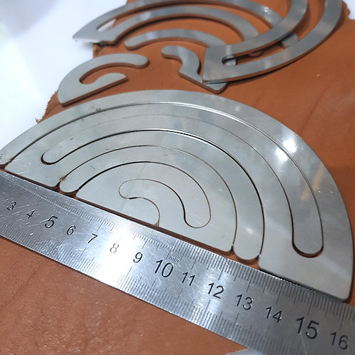 Half Round Stainless Steel Template