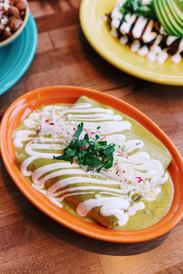 Enchiladas Pollo Suiza - Agua Verde Cafe