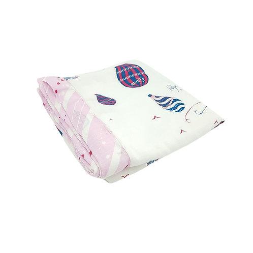 Grow bamboo muslin blanket - paris royal pink