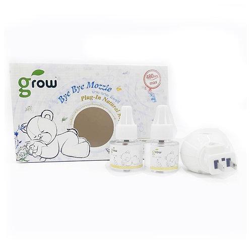 GROW BYE BYE MOZZIE Natural Repellent Plug-In