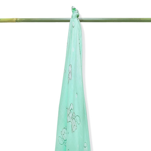 Grow-bamboo muslin swaddle-Bubble Bear