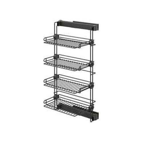 Lateral pull out shoes rack