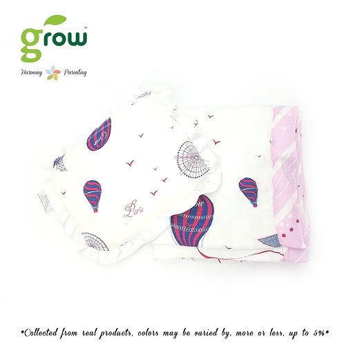 Grow-ผ้าห่มมัสลินใยไผ่bamboo muslin blanket-Bearboo in Paris Royal Pink