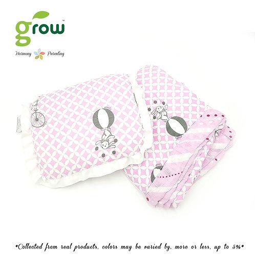 Grow-ผ้าห่มมัสลินใยไผ่bamboo muslin blanket-Fantasy Circus Pink