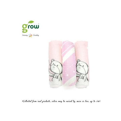 Grow Wash Cloth - Rose Pink bear