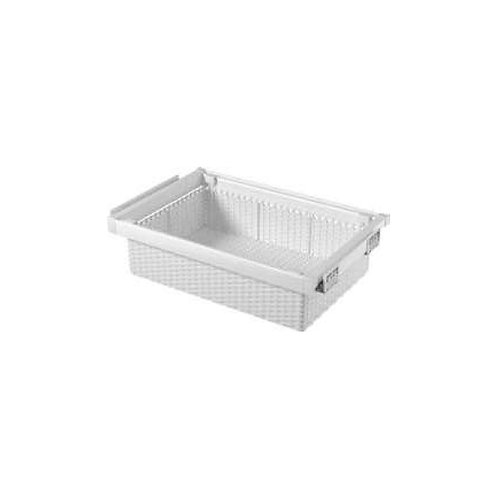 Pull out rattan like basket -WH