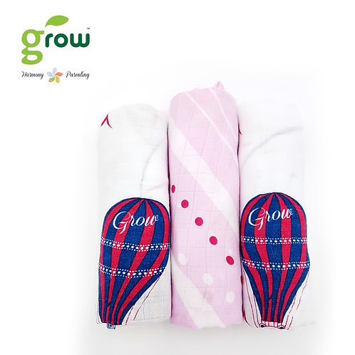 Grow-bamboo muslin cloth diapers-Bearboo in Paris Royal Pink Paris Royal Blue