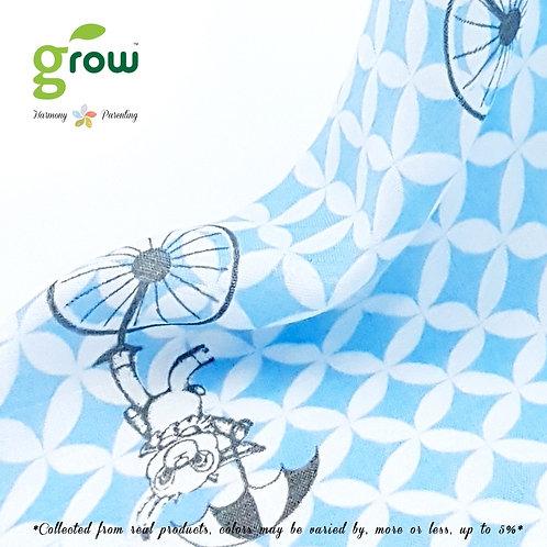 Grow Bamboo Muslin Fit sheet - Vintage Blue Rabbit