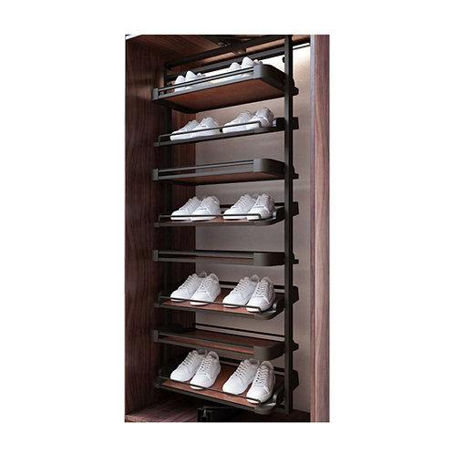 Swivel shoes rack