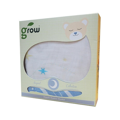 Grow-bamboo muslin blanket-Starry Forest