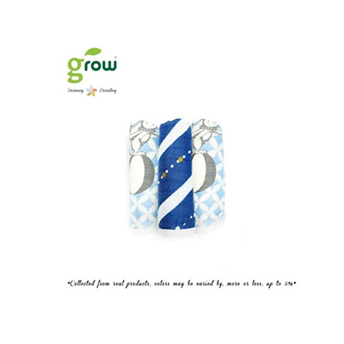 Grow Wash Cloth -  Vintage Blue rabbit