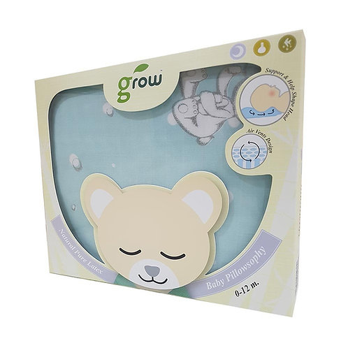Natural Latex Baby Pillow with Bamboo muslin Cas