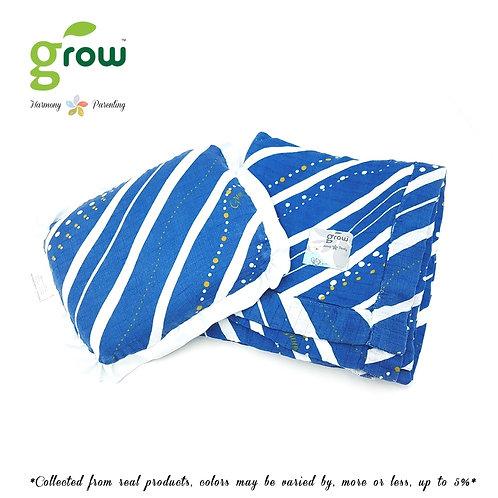 Grow-ผ้าห่มมัสลินใยไผ่bamboo muslin blanket-Rivera Deep Ocean