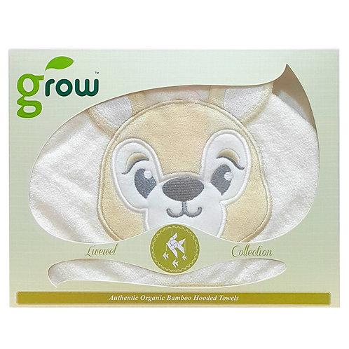 Organic Bamboo baby Hooded Towel-Fawn