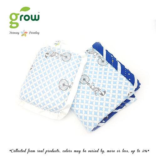 Grow-ผ้าห่มมัสลินใยไผ่bamboo muslin blanket-Fantasy Circus Blue