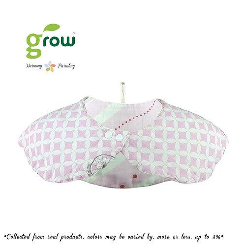 Grow organic bamboo muslin mom collar bib - Vintage pink rabbit