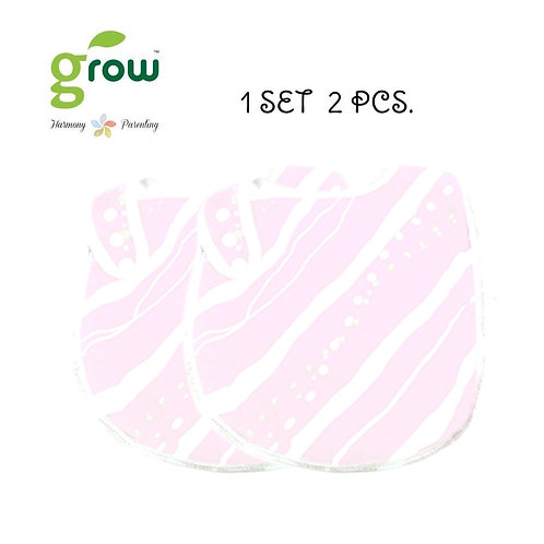 Grow Bamboo Muslin NickNackbib Pack of 2 Pcs. - Rose pink bear