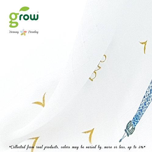 Grow Bamboo Muslin Fit sheet - Royal Blue Paris