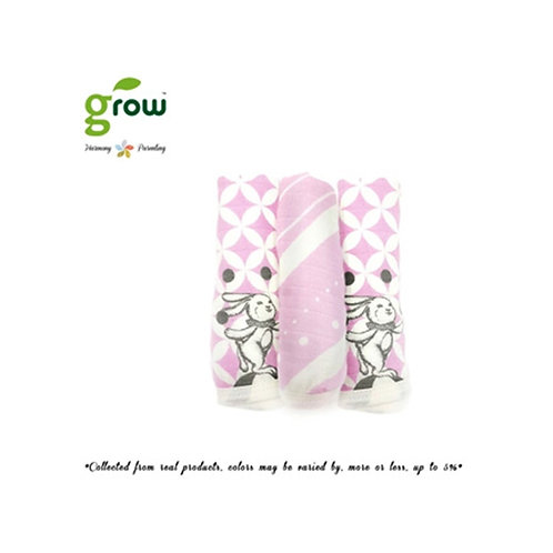 Grow Wash Cloth - Vintage pink rabbit