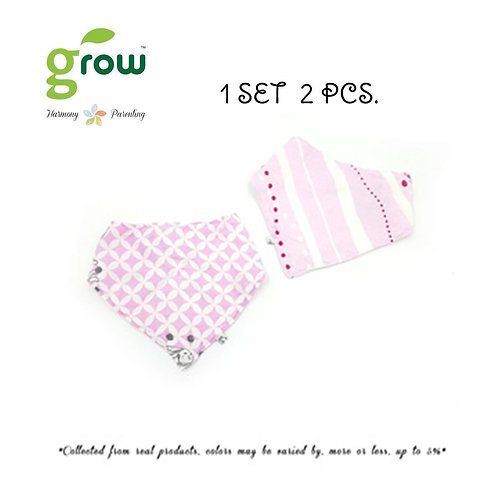 Grow Bamboo Muslin NickNack Bandana Pack of 2 -�Vintage pink rabbit